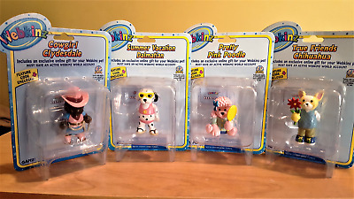 4 Webkinz Toys - Clydesdale; Dalmation; Pink Poodle; Chihuahua