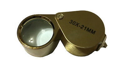 new magnifying glasses 30X x 21mm golden with box miniature books