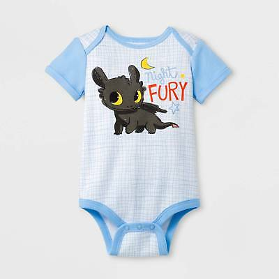 DreamWorks Baby How to Train Your Dragon Night Fury Short Sleeve Bodysuit - L...