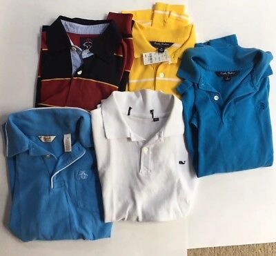Lot of 5 boys collared shirts vineyard vines, Brooks Brothers, Penguin Sz 10