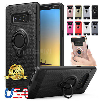 For Samsung Galaxy NOTE 8 S8Plus 360° Protective Holder Ring Case Magnetic Cover