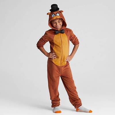 Boys' Five Nights at Freddy's Union Suit Pajama Set - Brown