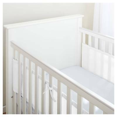 BreathableBaby® Mesh Crib Liner - Solid - White