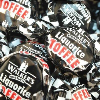 LIQUORICE TOFFEES 1kg  (WALKERS NONSUCH) 1 Kg BAG WALKERS NONSUCH UK FREE POST