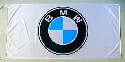BMW FLAG WHITE - SIZE 150x75cm (5x2.5 ft) - BRAND NEW