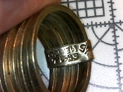 Great ring: 7 multiple circles  - 8.50 grams - sterling silver