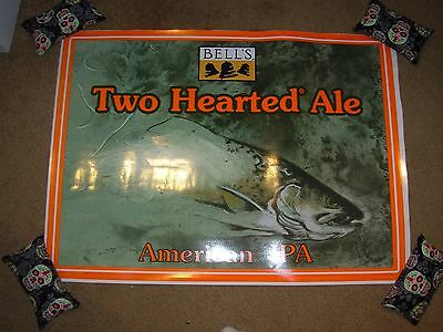 """BELLS TWO HEARTED Huge 29"""" Cling Sticker Wall Poster craft beer brewing brewery"""