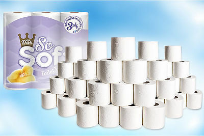 """Cant Be Beaten Triple Ply - 45 Pack Of """"Little Duck"""" So Soft 3 Ply Toilet Rolls"""