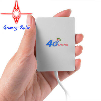 4G LTE SMA Male Antenna Panel Network Signal Booster for Router BI577 White