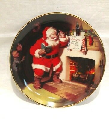 Coca Cola Collectors Plate -The Pause That Refreshes, Limited Edition Plate-1993