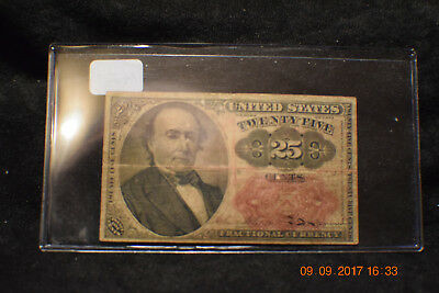1874 Twenty-five Cent-Fifth Issue, Columbian Bank Note CO. of Washington D.C...