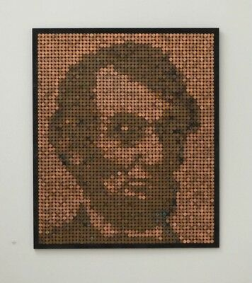 Mosaic Penny Lincoln Portait - Art