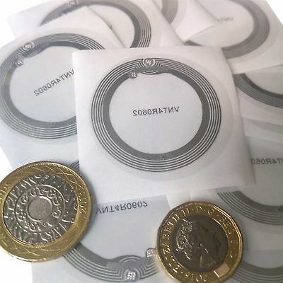 10 x NFC Sticker, Clear Label NFC Tag, NXP NTAG213 Chip iPhone 8 Android Windows