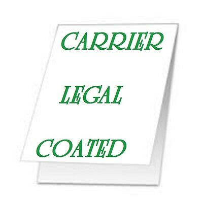 5pk CARRIER SLEEVES For Laminating  Laminator LEGAL Size Coated