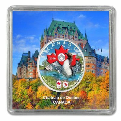 CANADA 2016 Olympic Games Lucky Loonie Plated Rhodium and Coloured
