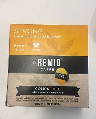 St Remio strong blend Lavazza compatible coffee pods