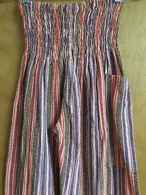 Men's Women's Striped Handwoven Technicolor Cotton Joggers Made in Oaxaca XS/S/M
