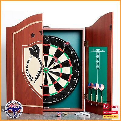 Super Dartboard with Cabinet Relaxation Aid Built in Storage 6 x Darts and Score