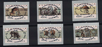 Australia 1996  Kangaroo & Koala Counter Printed Stamps CAPEX Rare Cancellation