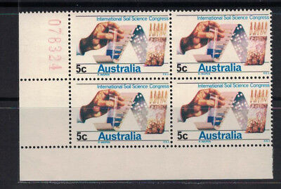 Australia 1968 International Soil Congress Number Block of 4 MNH