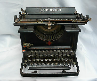 Vintage Retro Black Antique Remington Office Home Typewriter Number # 12