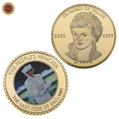 WR 24K Gold Princess Diana Commemorative Coin 1997 20th Anniversary Collectibles