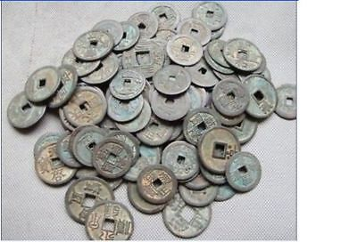 Collect 50pcs Chinese Bronze Coin China Old Dynasty Antique Currency Cash#666