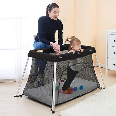Star Kidz Amico Light Travel Cot Portacot - Black