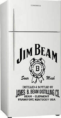 Jim Beam Fridge, Bar, Sticker Decal, 580 x 455mm