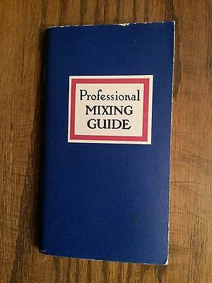 Professional Mixing Guide Bartenders Book Small Book 1971 with original inserts
