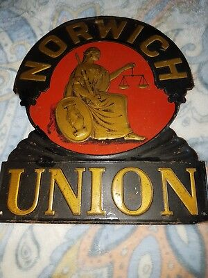 Firemark as displayed in 18th Century Vintage Norwich Union House Plaque Tin