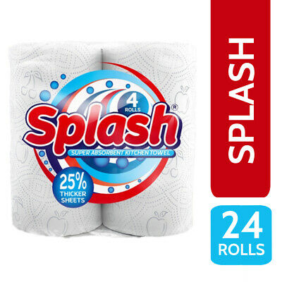 24 Kitchen Roll / Towel 2 Ply 10m Per Roll - Splash XL – Super Absorbent Printed
