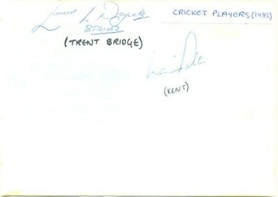 Laurie Potter signed autograph album page 1982 English cricketer Kent