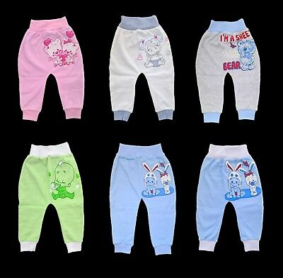 Baby Boys and Girls Trousers Leggings, 100% Cotton size: NB to 18 mths..