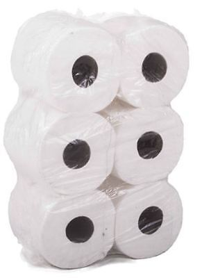 6 Pack 2 Ply White Embossed Centre Feed Paper Wipe Rolls **multi-Buy Offers**