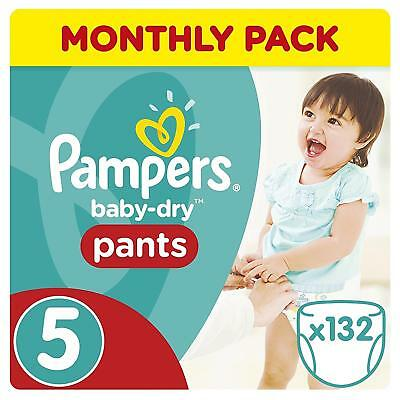 Pampers Baby-Dry Pants, 11-18 kg, 132 Nappy Monthly Pack - Size 5