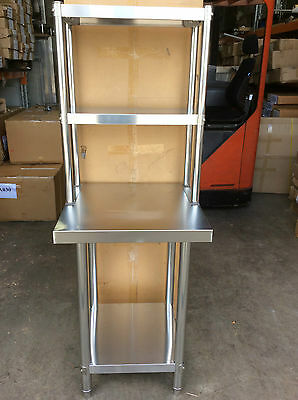 Brand New Stainless Steel Bench with Overshelving 60c60x90x60x30x78 cm