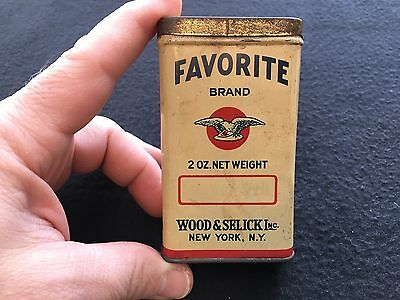 Favorite Brand 2 oz Caraway Seed Spice Tin w/ Eagle Graphic ~ Wood & Selick, Inc
