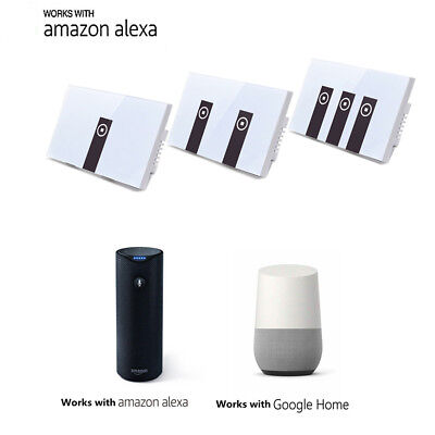 Smart Home Touch Sensor Switch Panel Tempered Glass For Echo Alexa/Google Home