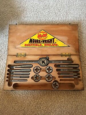 Moore & Wright Tapping Wrench Set Boxed Vintage