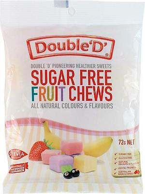3 x DoubleD S/Free Fruit Chews 72g
