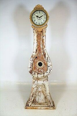 Antique Swedish Painted Mora Clock Longcase Grandfather Gustavian Original Paint
