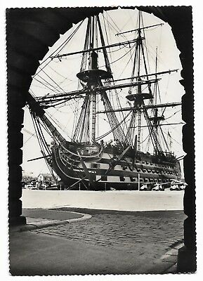 The Victory, Portsmouth Vintage Real Photo Postcard Photo Precision 893A