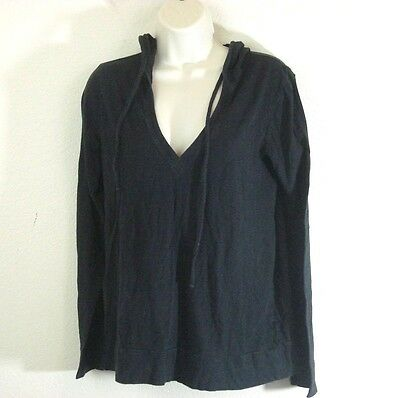Old Navy Maternity Black Pullover Hoodie V-Neck M Medium FREE SHIPPING!