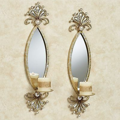 Mirrored Wall Sconces-Pair