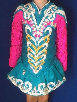 Stunning Irish Dancing Dress by Taylor Designs - Main coulor Turquoise