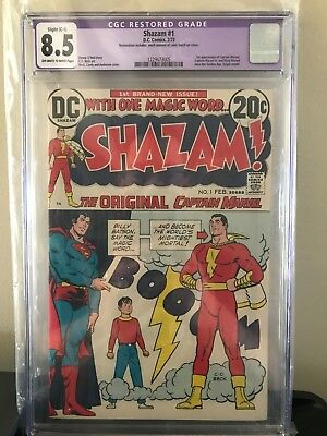 Shazam #1 Cgc 8.5! 1st Appearance Of Captain Marvel Since The Golden Age!!