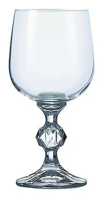Bohemia Crystal Claudia Red Wine Goblets Glasses 340ml Set of 6  Stemware NEW