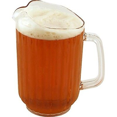 Plastic Beer & Water Pitcher 60 oz A Great Gift For BeerLovers Brand New Clear,