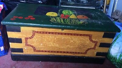 Vintage Painted Pine Chest Box Coffer Coffee Table